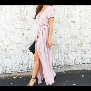Dresses & Skirts - Light Pink Wrap Dress